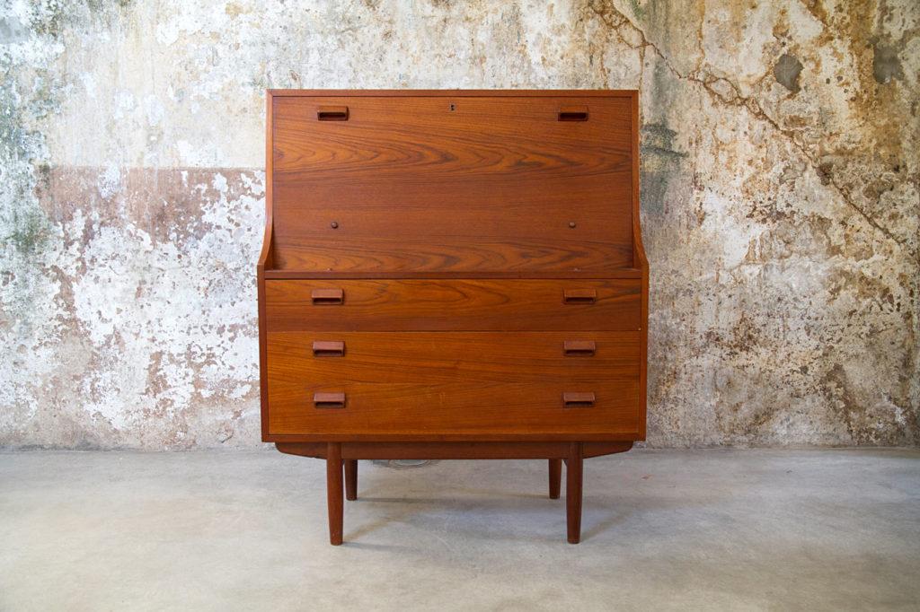 Credenza Con Tavolo A Ribalta : Scrittoio credenza danese vintage anni design space