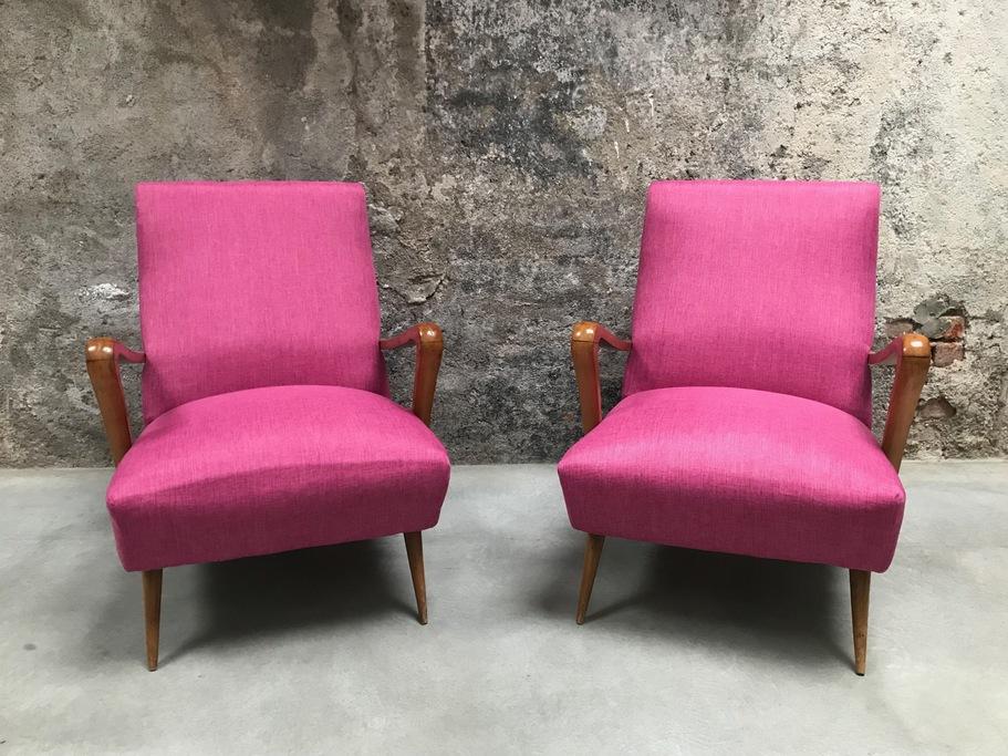 Poltrone rosa vintage anni '60