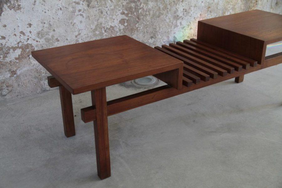 Tavolino da caffè in legno, Scandinavia, anni '60
